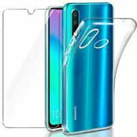 Coque Transparent / Vitre Film Vitre Verre Trempé Pour Huawei P30 P30 Lite