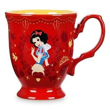 NEW DISNEY STORE ORIGINAL SNOW WHITE PRINCESS NAME FLOWER MUG COFFEE TEA CUP