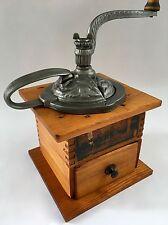"PRISTINE! Antique/Vintage American ARCADE ""KING"" No.630 Wood Coffee Mill/Grinder"