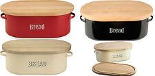 Typhoon Vintage Kitchen Bread Bin - Cream, Red, Black Retro Style Bread Bin