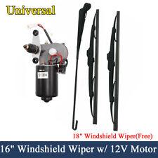 UTV Electric Windshield Wiper Motor Kit for Kawasaki Polaris KUBOTA CASE Kymco