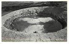 RPPC Postcard Devil's Punch Bowl Mud Pot Lassen National Park CA