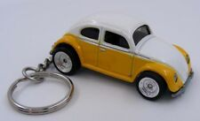 Volkswagen Beetle Yellow and White Key Chain Ring Fob Keychain