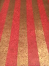 Vintage Wallpaper Gold and Red Stripes Metallic by Motif