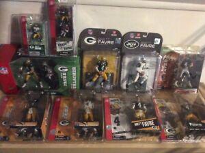 Brett Favre McFarlane NFL Lot 12 inch 4 pack Falcons & Packers variant figures