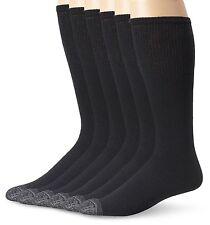 Fruit Of The Loom Men's 6 Pack Over the Calf Tube Socks Black Shoe: 6-12