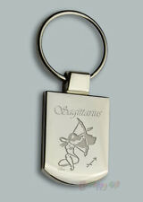 Personalised EROTIC SAGITARIUS zodiac Design keyring BOXED engraved Free