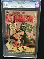 TALES TO ASTONISH #38 CGC 8.0