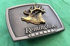 VTG New Old Stock 1986 REMINGTON COUNTRY Bugling Elk Firearm Hunting BELT BUCKLE