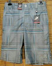 NWT ZeroXposur Boys L 14/16 Gray Blue 2 in1 Shorts Swim Trunks Quick Dry
