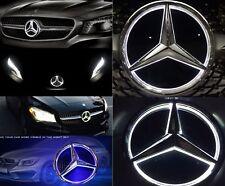 Weiße LED Licht Stern Emblem Abzeichen →Mercedes-Benz AC C E CLS Grille