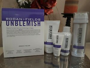 Rodan + and Fields Acne Unblemish Regimen Kit, New Sealed exp 3/2022
