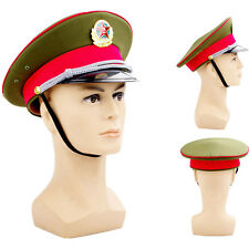 23In./59cm Military Captain's Visor Hat Chinese Communist Party Army Officer Cap