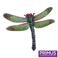 Large 35cm Green Metal Dragonfly Wall Art Garden Patio Shed Fence Indoor/Outdoor