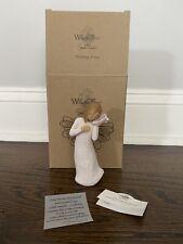 "Demdaco Willow Tree Angel Susan Lordi – ""Thinking of You� Figurine with Seashell"