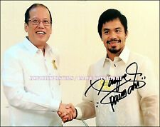 MANNY PACQUIAO Signed 10x8 'PRESIDENT' Team Pac Cert