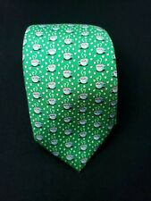 Vineyard Vines Hot Cocoa Pattern 100% Silk Tie NWT $85 Made in USA Green