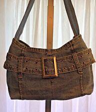 Zana Di Jeans Denim Bag Purse Tote Handbag Blue Jean Hippie Boho Belt Buckle