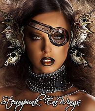 Xotic Eyes Steampunk Ear Wings Fairy Costume Gears Metallic