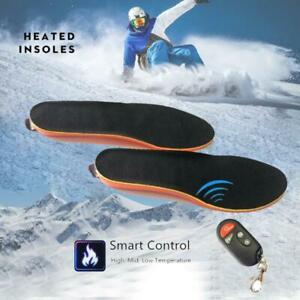 Electric Heated Shoe Insoles Sole Foot Pad Warmer Feet Rechargeable with Remote