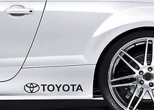2x Side Skirt Stickers fits Toyota Logo Celica Graphics Premium Decals BL105