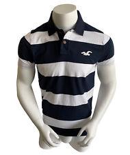 Hollister Surf Men's Premium Cotton Classic Stripe Polo Shirt Size XL Muscle Fit