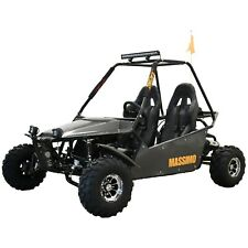 New Massimo Go Kart 200cc GKM-200 Automatic Transmission w/Reverse in Black