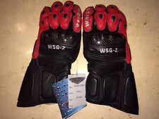 Weise Motorcycle Bike Gloves Hide Leather Goatskin Kevlar Armoured Only £19.99.