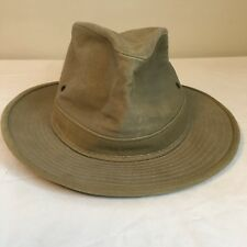 e1a4bf93ee80e Vtg Henschel Fedora Boonie Hat Beige USA Made Free Shipping Small Canvas