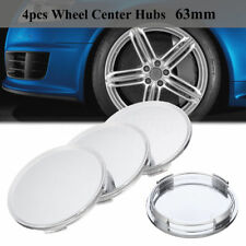 4x Silver Universal Car Vehicle Wheel Center Hub Cap Covers NO Badge Emblem 63mm