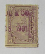 "Revenue DOCUMENTARY Battleship Sc#R167 Proprietary ""PEUL. Co 1901"""