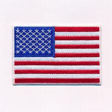 80 x 50 mm Amerika Flagge USA Flag Washington Patch Aufnäher Aufbügler 0640 X