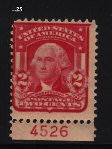 1908 Sc 319F Type II MHR original gum, plate number single, Hebert CV $30