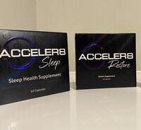 B Epic Acceler8 60 Pills - (1 Box Sleep & 1 Box Restore) Weight Loss Detox -