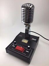 DELTA M2 AMPLIFIED DYNAMIC POWER BASE MICROPHONE 4 pin Cobra CB HAM DIECAST MIC
