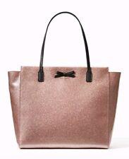 Kate Spade taden Mavis Street Large Tote Bag Glitter Shoulder Bag Rose Gold  New