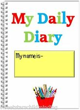 CHILDMINDER- CHILDCARE PROVIDER A5 wire bound MY DAILY DIARY 3+ years