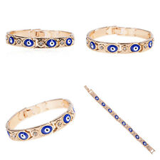 Womens Turkish Jewelry Charm Evil Eye Chain Bracelet Enamel Lucky Protection New
