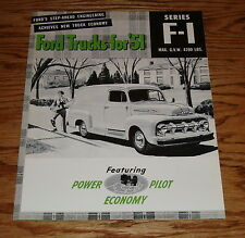 1951 Ford Truck F-1 Series Foldout Sales Brochure 51 Pickup Panel Stake