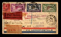 France 1928 Airmail Paris > Moscow > Berlin > USA & Overpaid Note - L17351