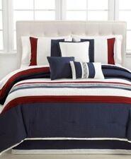 Hallmart Collectibles 7-Piece Ethan Comforter Set, Queen, Red/Blue