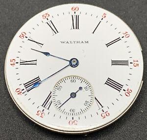 Waltham Seaside Pocket Watch Movement 1890 6s 15j Hunter Ticking F2796