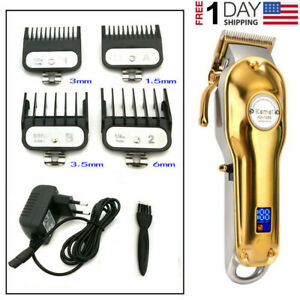 Barber Professional Electric Hair Clipper Trimmer Cordless Beard Cutter Haircut