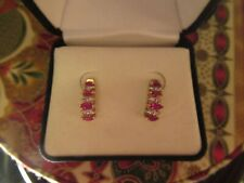 Diamond Earrings - 10Kyg New listing Natural Ruby and
