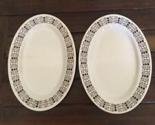2 Westminister Australia Vitrified China Oval Dinner Plates 70's Very Good Cond