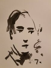 "JOSE TRUJILLO - Contemporary Modernism INK WASH SIGNED 11X15"" Portrait Abstract"