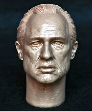 "1/6 scale unpainted action figure head sculpt godfather 12"" enterbay hottoys"
