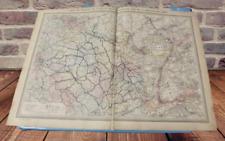 Ancienne Affiche Carte des chemins de fer de France Région du Rhin Strasbourg