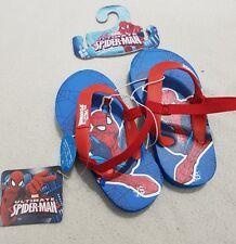 Spiderman Bambino Ragazzo Infradito Con Cinturini Alla Caviglia Bambini UK 5-6 EU 22-23