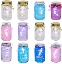 Firefly Light Up LED Glass Jars Mother Day Gift For Mum Friends Home Decoration